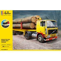 Heller 57704 - STARTER KIT Volvo F12-20 & Timber Semi Trailer 1/32