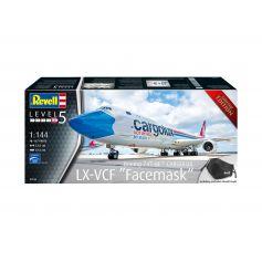 Boeing 747-8F CARGOLUX LX-VCF (Facemask) 1/144