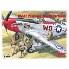 Pilotes et techniciens américains (1941-1945) 1/48