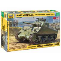 Zvezda 3702 - Char moyen Américain Sherman M4A2 1/35