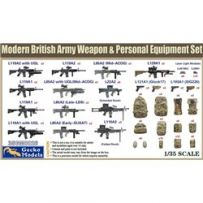 Arme et équipement personnel de l'armée britannique moderne 1/35