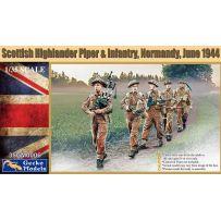 Scottish Highlander Piper & Infantry – Normandie 1/35