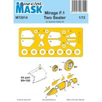 Mirage F.1 Two Seater Mask 1/72