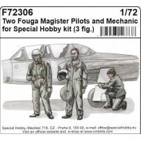 Two Fouga Magister Pilots and a Mechanic for 1/72 SH kit (3fig) 1/72