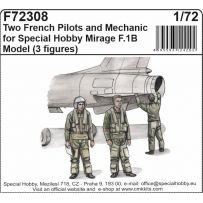 Two French Pilots and Mechanic for Special Hobby Mirage F.IB Model 1/72