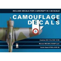 Camo and Decals Caudron CR.714 Morane Ms.406 Curtiss Hawk H75A 1/48