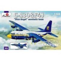 C-130 & F4J Blue Angel Aerobatic team 1/144