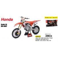 HRC Factory Racing Team Honda CRF 450R 2017 Cole Seely N14 1/6