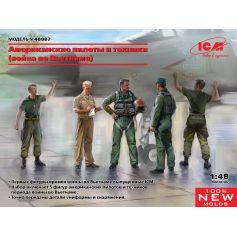Pilotes et techniciens Américains (Guerre du Vietnam) 1/48