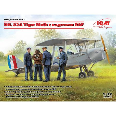 DH. 82A Tiger Moth avec Cadets de la RAF 2E. G.M. 1/32