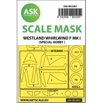 Westland Whirlwind Mk.I double-sided painting mask for Special Hobby 1/32