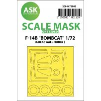 F-14B Bombcat one sided paint mask for Great Wall Hobby 1/72