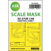 SU-27UB double-sided painting mask for Great Wall Hobby 1/48