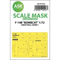F-14B Bombcat double-sided painting mask for Great Wall Hobby 1/72