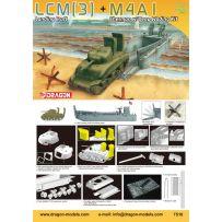LCM(3) Landing Craft + M4A1 w/Deep Wading Kit 1/72