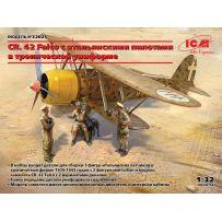 CR. 42 Falco Pilotes Italiens uniforme tropical 1/32