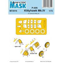 P-40N/Kittyhawk Mk.IV Mask 1/72