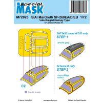 SIAI-Marchetti SF-260EA/D/EU (Late Bulged Canopy Type) Mask 1/72