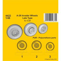 A-26 Invader Wheels Late Type / for ICM kit 1/48