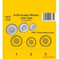 A-26 Invader Wheels Late Type / for Italeri kit 1/72