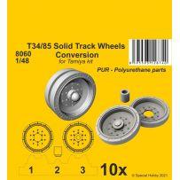 T34/85 Solid Track Wheels Conversion Set 1/48