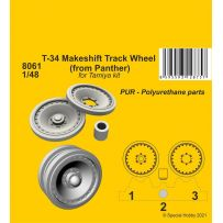 T-34 Makeshift Track Wheel (from Panther) 1/48