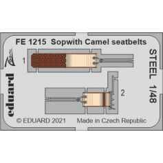 Sopwith Camel seatbelts STEEL 1/48