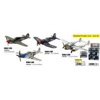 12 avions militaires 4 modèles assortis (military mission)