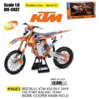Moto KTM 450 SX-F Racing C. Webb N.2 2019 1/6