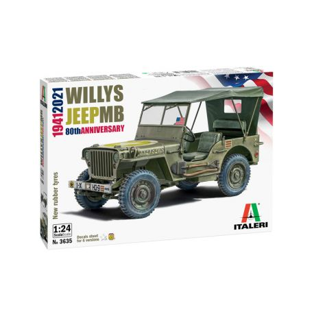 Willys Jeep MB 80th Anniversary 1941-2021 1/24