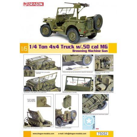 1/6 1/4-Ton 4x4 Truck w/M2 .50-cal Machine Gun