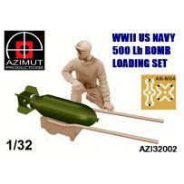 WWII US NAVY 500 Lb BOMB LOADING SET 1/32