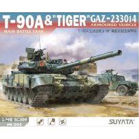T-90A Main Battle Tank & (Tiger) Gaz-233014 Armoured Vehicle 1/48