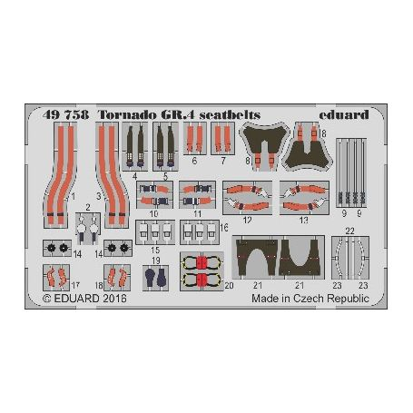 EDUARD 49758 Tornado GR.4 seatbelts 1/48 REVELL Photo etched set