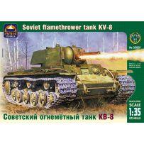ARK MODELS AK 35028 KV-8 RUSSIAN HEAVY FLAMETHROWER TANK
