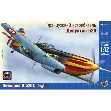 ARK MODELS 72016 DEWOITINE D.520 С FRENCH FIGHTER 1/72