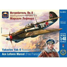 Yakovlev Yak-9 Russian fighter. Ace Marcel Lefevre (Free France) 1/48