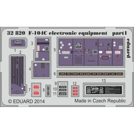 F-104C ELECTRONIC EQUIPMENT ITALERI 1/32