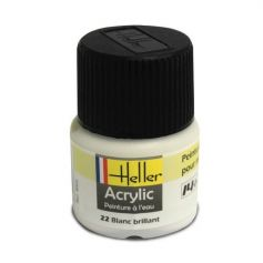 HELLER 09022 BLANC BRILLANT X6 ACRYLIQUE 12ML
