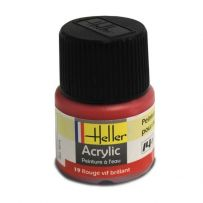 HELLER 09019 ROUGE VIF BRILLANT X6 ACRYLIQUE 12ML