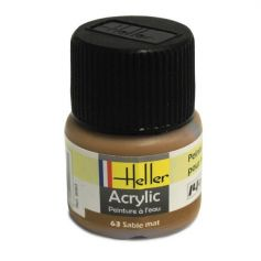 HELLER 09063 SABLE MAT X6 ACRYLIQUE 12ML