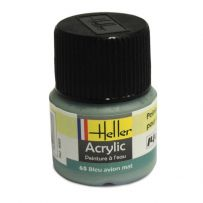 HELLER 09065 BLEU AVION MAT X6 ACRYLIQUE 12ML