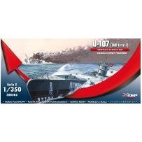 MIRAGE HOBBY 350503 GERMAN U-BOOT U-107 (IXB TURM I) 1/350