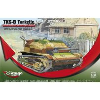 MIRAGE HOBBY 354013 TANKETTE TKS-B (2 VERSIONS) AUTOMATIC CANNON 20MM MK.38 OR 7,92MM MK.25 HOTCHKISS 1/35
