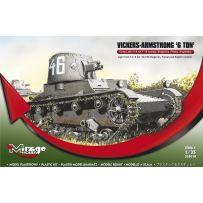 MIRAGE HOBBY 355010 VICKERS-ARMSTRONG '6 TON' MK F/B LIGHT TANK (BULGARIAN, FINNISH AND ENGLISH VERSION) 1/35