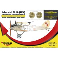 MIRAGE HOBBY 480003 HALBERSTADT CL.IIA (BFW) 2 RECONNAISSANCE POLISH AVIATION SQUADRON SET WITH THE COLLECTOR'S COIN 1/48