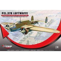 MIRAGE HOBBY 481312 PZL.37B LUFTWAFFE GERMAN VERSION OKECIE 1940' (TWIN-ENGINE MEDIUM BOMBER) 1/48