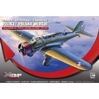 MIRAGE HOBBY 481313 PZL.43 'SEPTEMBER 1939 VER. + PROTOTYPE' LIGHT BOMBER AND RECONNAISSANCE AIRCRAFT 1/48