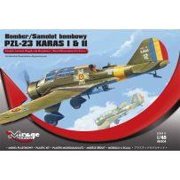 MIRAGE HOBBY 481304 BOMBER PZL-23 KARAS I & II 'ROYAL ROMANIAN AIR FORCE ' 1/48