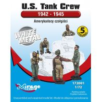 MIRAGE HOBBY 172001 U.S. TANK CREW 1942-1945 [5 FIGURES/WHITE METAL] 1/72